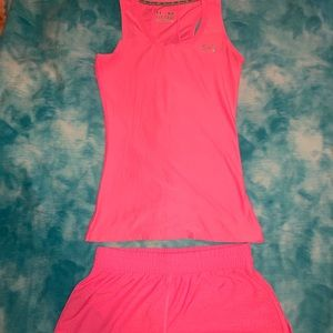 Women's Under Armour Pink Workout Bundle